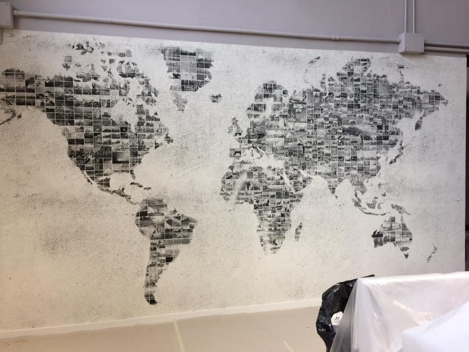 Carta vinilica ad effetto Mappa Mondo